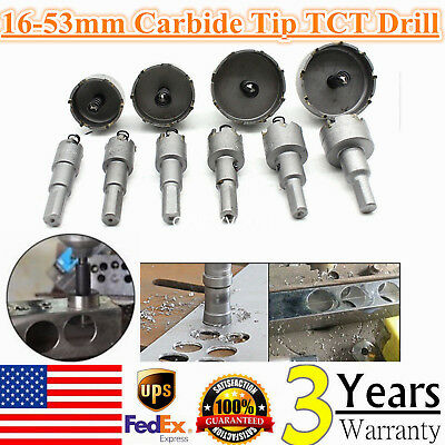10pc Cutter Drill Bit Set Carbide Tip Tct Hole Saw For Steel Metal Alloy 16-53mm