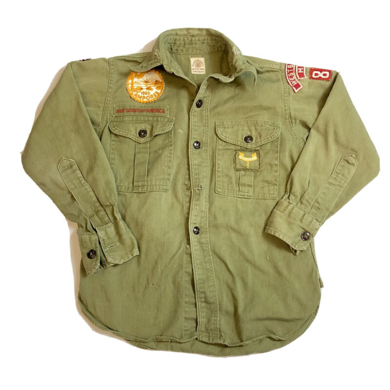 Boy Scouts of America Vintage 1960 Camporee Maine Official Shirt Sanforized