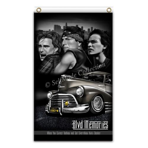 blood in blood out blvd memories 3ftx5ft flag banner los angeles lowrider NEW!