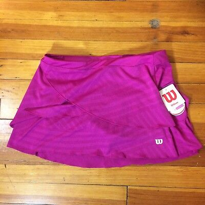 "Wilson Fiesta Pink Tennis Skirt Tulip Layered 13.5"" Skirt NEW with Tags Medium"