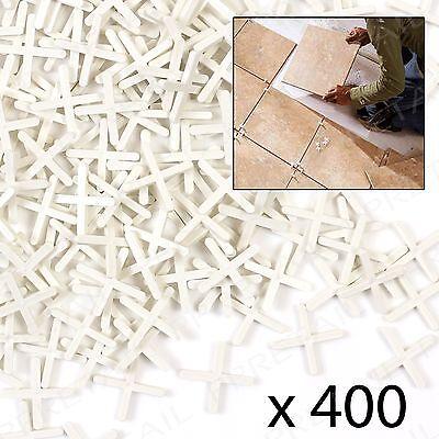 400x Tile Spacers 3mm Gap Floor/Wall Tiling Grouting Cross Pack Kitchen/Bathroom