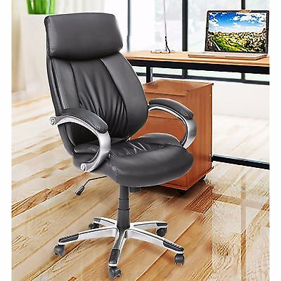 Merax PU Leather Home Office High Back Executive Computer Chair Computer Desk