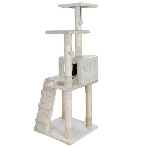 52″ Cat Tree Multi-Level Kitten Tower Pet Condo Furniture House Sisal Scratching Cat Supplies