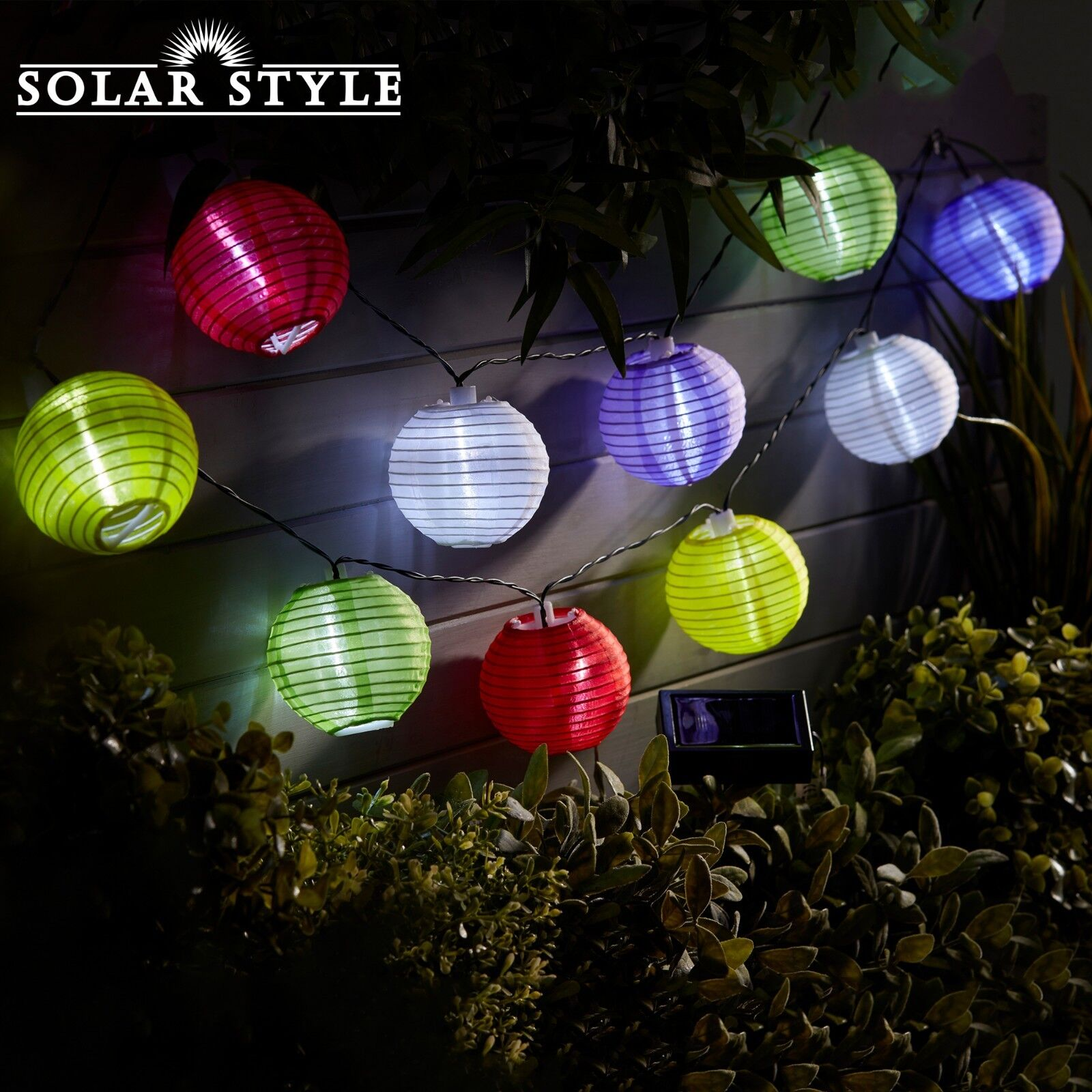 pretty nice 1eac5 44645 Details about LED String Fairy Lights Solar Powered Indoor Outdoor Party  Chinese Lantern NEW