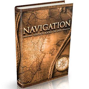43 Navigation Books on DVD Celestial Nautical Compass Sextant Astronomical Maps