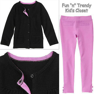 NWT Gymboree POSH AND PLAYFUL Girls Size 4 or 5 Pants & Cardigan Sweater OUTFIT