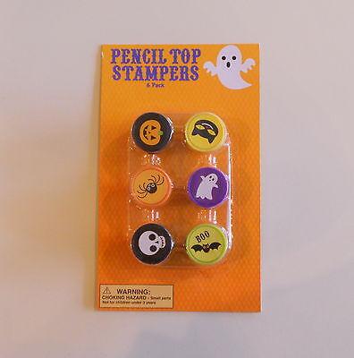 6-Pack Halloween Pencil Top Stampers - Halloween Self Inking Stampers