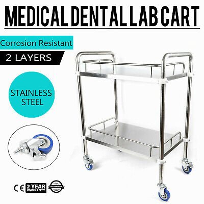 Laboratory Lab 2layer Cart Trolley Stainless Steel Serving Equipment Durable New