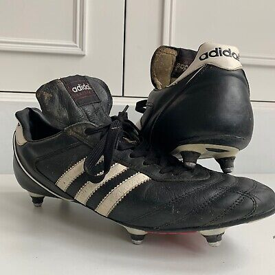 Adidas Kaiser 5 Cup SG Soft Ground Football Boots Black/White Soft Leather 11