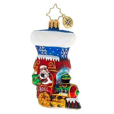[NEW Christopher Radko NOEL EXPRESS STOCKING Christmas Ornament 1020262</Title]