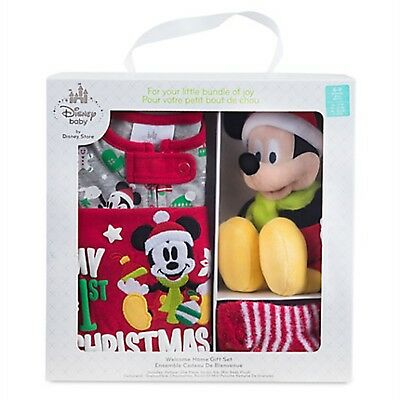 Disney Store Mickey Mouse Welcome Home Gift Set for Baby Plush Christmas Outfit](Disney Outfits For Babies)