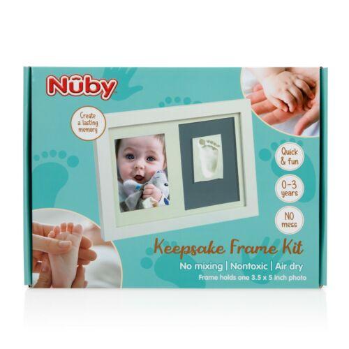 "Nuby Baby Hand or Foot Print Keepsake Frame Kit - 3.5 x 5"" Photo & Clay Print"