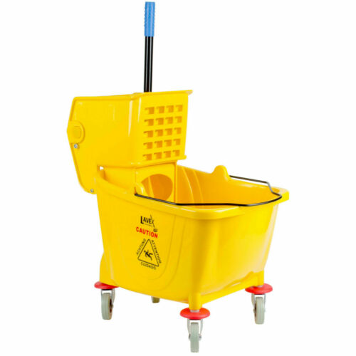 Industrial Lavex Janitorial Yellow 36Quart Mop Bucket&Wringer Combo Used Lightly