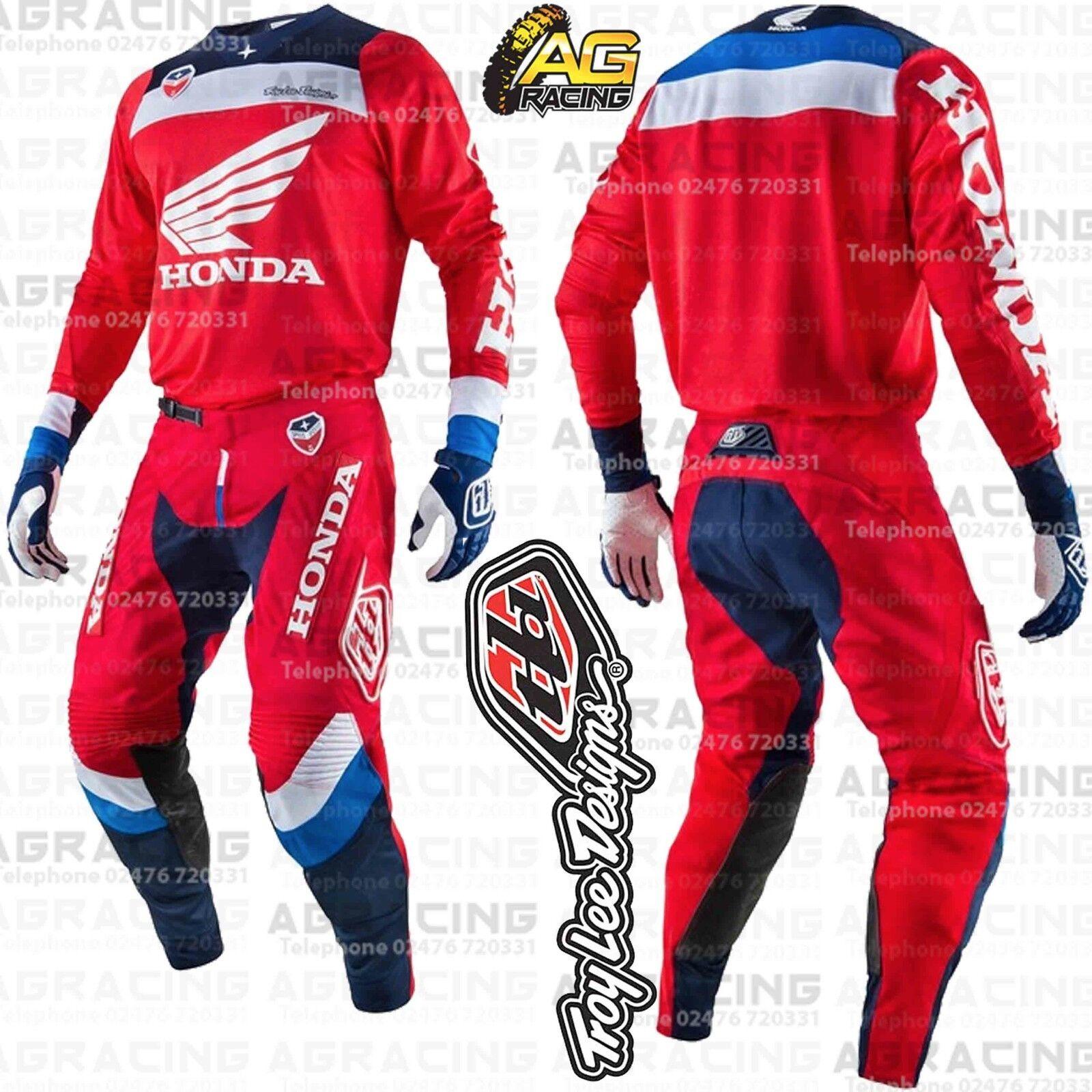 c271af472e8 Details about Troy Lee Designs SE Air Corsa Honda Red White Blue SM Jersey  30