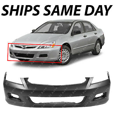 NEW Primered - Front Bumper Cover Replacement for 2006 2007 Honda Accord - Accord Sedan Front Bumper Cover