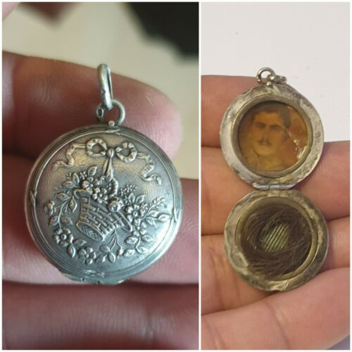 Victorian Mourning Hair & Picture Locket
