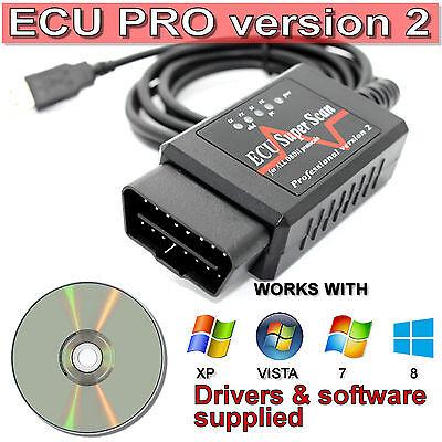 Fits Ford Mondeo Focus Fiesta OBD2 Fault Code Reader Reset Tool Diagnostics USB