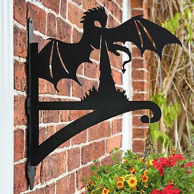 New Dragon Breathing Fire Iron Hanging Basket Bracket - 47cm x 33cm