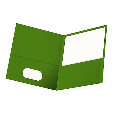 Oxford Twin-pocket Folders Textured Paper Letter Size Green Holds 100