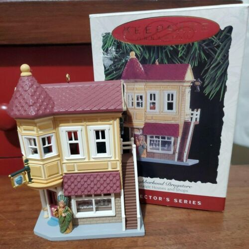 Hallmark Drugstore Ornament 1994 Nostalgic Houses & Shops #11 in series