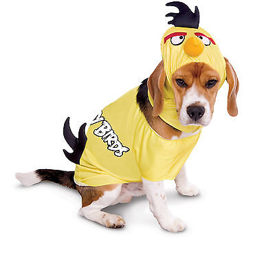 ANGRY BIRDS Rovio Halloween Video Game Pet Dog Costume - Yellow S, M, L Cosplay (Hund Angry Bird Kostüm)