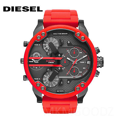 NEW Diesel Original DZ7370 Mr Daddy 2.0 Red Chronograph Watch 57mm
