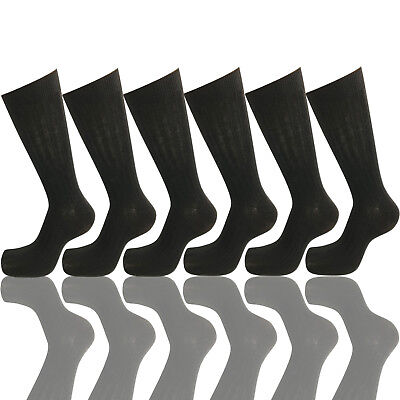 - 6 PAIRS NEW COTTON MENS LORDS RIB STYLE DRESS SOCKS SIZE 10-13 BLACK COLOR