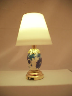 Light - LED Blue Table Lamp 2301 replaceable battery  dollhouse 1/12 scale  for sale  Shipping to India