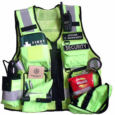 Hi Viz Tactical Vest Security, Police, Enforcement, CCTV,  Dog Handler Tac Vest