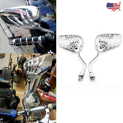 For Suzuki Boulevard / Kawasaki Vulcan 900 Chrome Motorcycles Rearview Mirrors