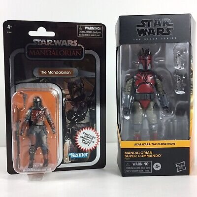 Star Wars Mandalorian Black Series Super Commando And Vintage Collection Bundle