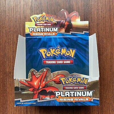 Pokemon Platinum Rising Rivals Booster Box Vintage Display EMPTY Pokemon Platinum Booster Box
