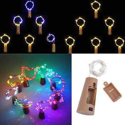 10 20 30 LED Kupfer Draht String Licht Kork geformt Weinflasche für Xmas Dekor R