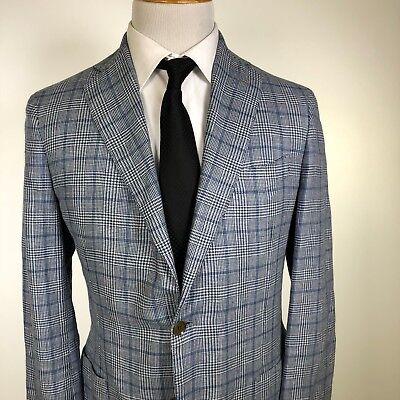 New Eidos By Isaia Napoli Balthazar Sportcoat 40R Blue Silk Wool Was  995