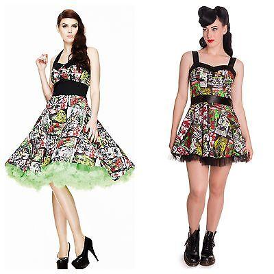 New Hell Bunny B-Movie Halloween Horror Comic Rockabilly 50s Vintage Party Dress