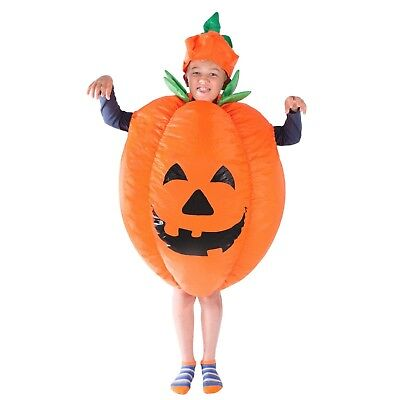Funny Kids Costumes (Kids Child Funny Scary Inflatable Pumpkin Costume Outfit Suit Halloween One)
