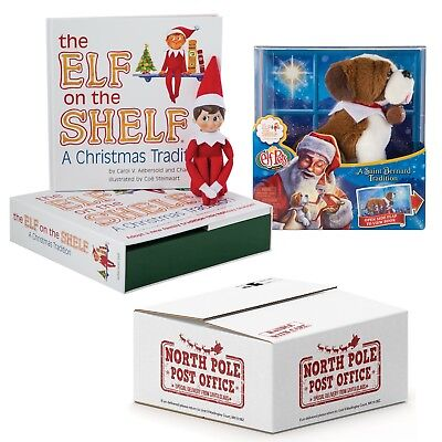 The Elf on the Shelf® Boy Scout Elf  with Elf Pets Saint Bernard Puppy