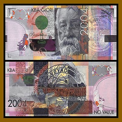 KBA Giori Jules Verne 2004 Intaglio Print Specimen Test Note Unc