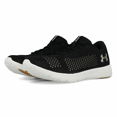 Under Armour Womens Rapid Running Shoes Trainers Black Sports Breathable