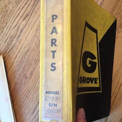 Grove Rt980 Crane Parts Manual Book Catalog List Rough Terrain Hydraulic Guide