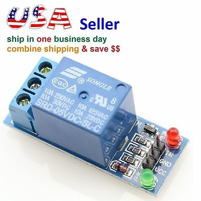 One 1 Channel Relay Module Shield 5v Control 120v10a W Optocoupler To Arduino
