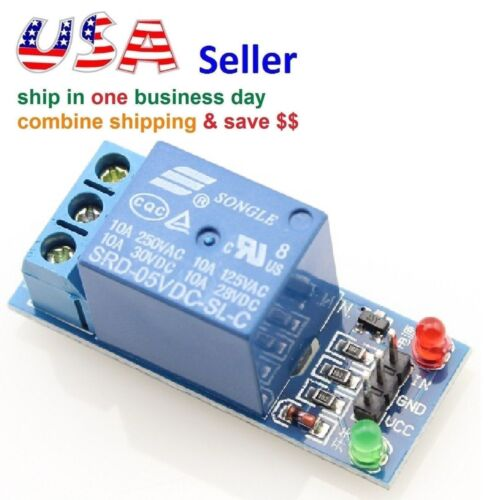 One 1 Channel Relay Module Shield 5V Control 120V/10A w/ Optocoupler to Arduino