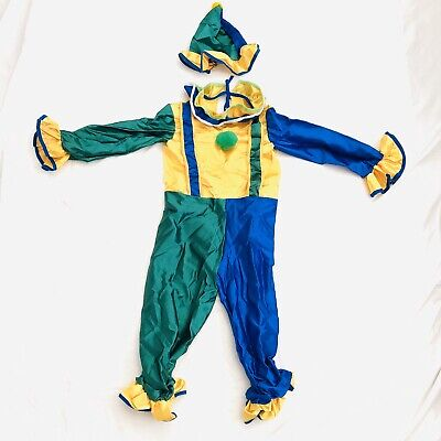 4 Year Old Boy Costumes (Happy Clown Kid Costume Small 4-6 Years Old Jumpsuit and Hat Tiny Tikes Made)
