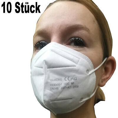 10 Stück Atemschutzmaske FFP2 Mundschutz Maske Schutzmaske Ludwiglack