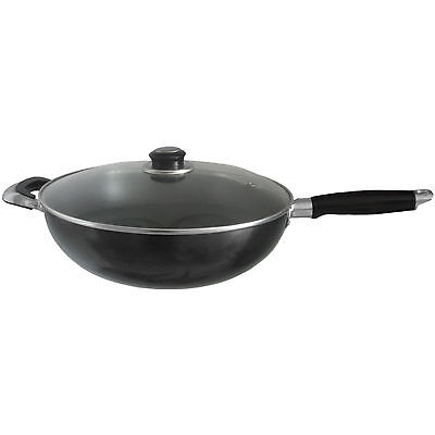 30cm Aluminium Cast Wok Set Saucepan Frying Pan Chinese Stir Pan Non Stick Asian