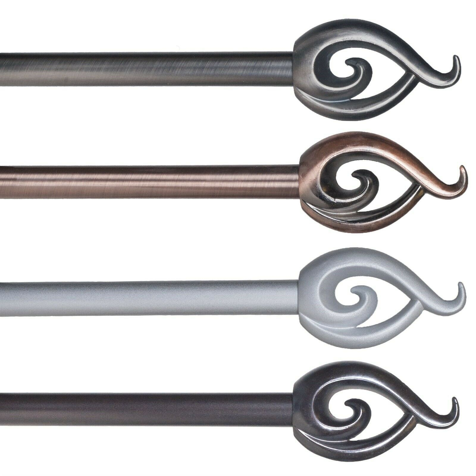 Bay Window Curtain Rod Traditional Indoor Bronze Durable Steel 48 84 Inches