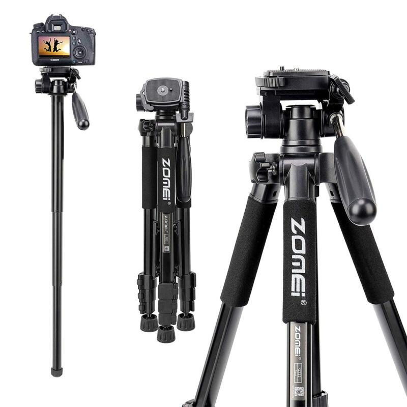 ZOMEI Professional Portable Tripod Monopod Pan Head for Canon Nikon DSLR Camera