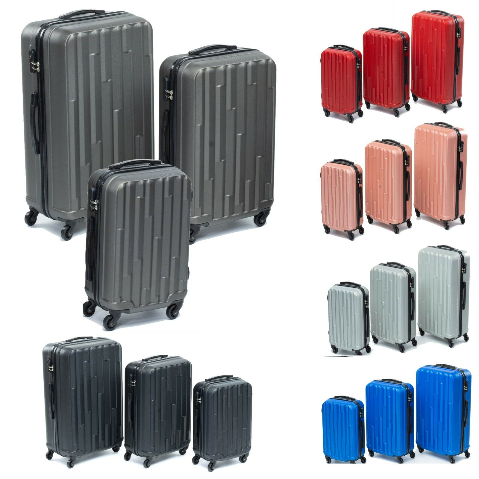 Hartschalenkoffer  Advance  Trolley Koffer Kofferset Reisekoffer  M L XL Set