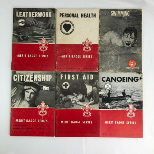 Boy Scout Books - Bundle of 6 vintage merit badge books from 1950s-60s