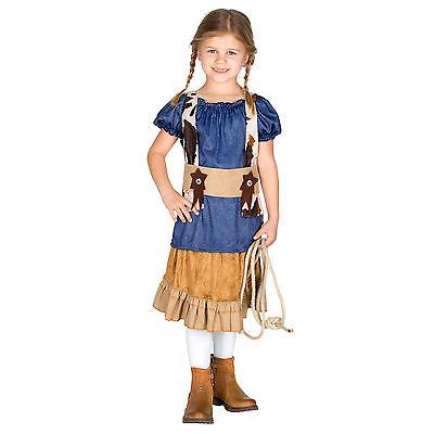 Cowgirl Kostüm Mädchen (Mädchenkostüm Cowgirl Cowboy Sheriff Western Wilder Westen Fasching Karneval )
